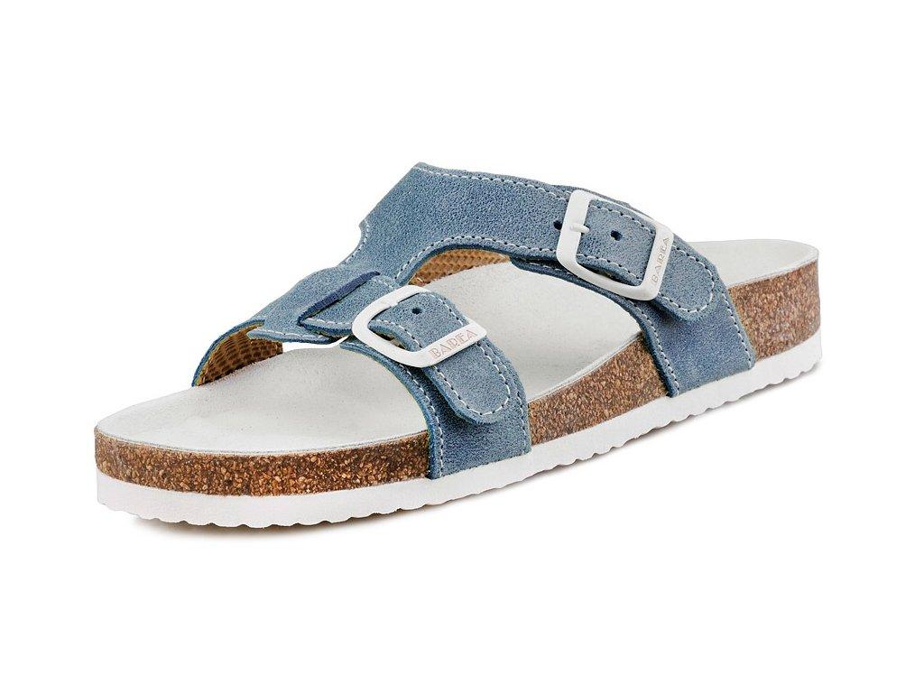Dětské zdravotní pantofle Barea 003050 modré - VLAPA.cz 982e35a98b