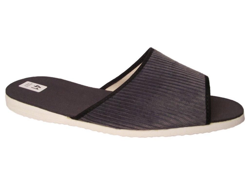 Pánské domácí pantofle Bokap 017 šedá manžestr