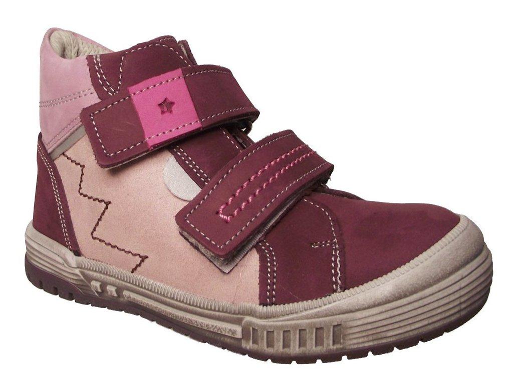 Dětské celoroční boty Essi S 2646 vínové