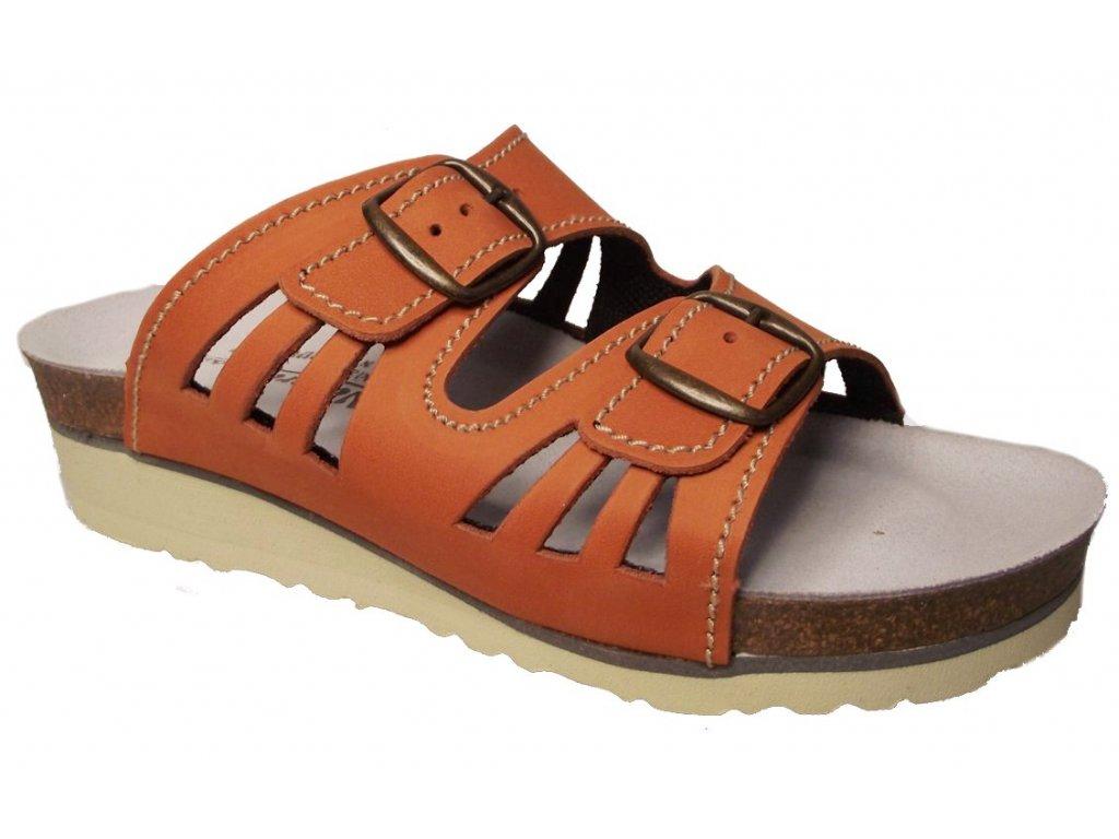 Dámské zdravotní pantofle Natural F42082 oranžové - VLAPA.cz d7ce79263a