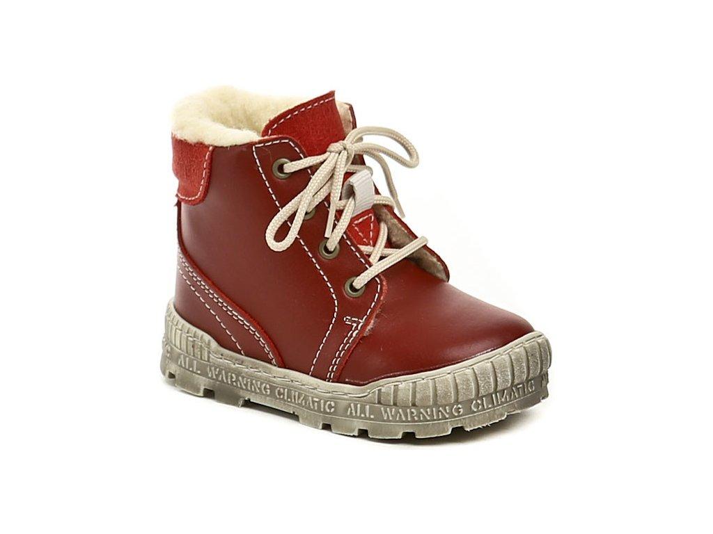 Dětské zimní kotníkové boty Pegres 1700 červená - VLAPA.cz 298968fb16
