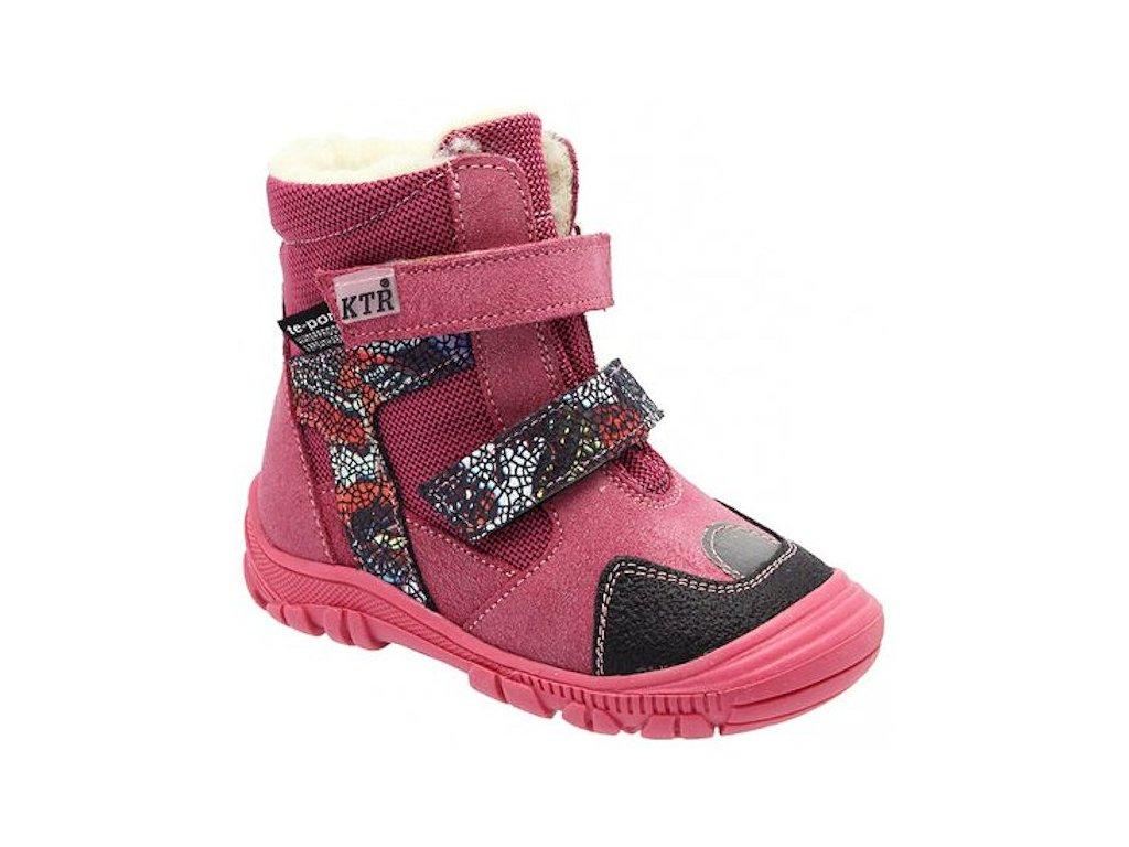 Dětské zimní kotníkové boty KTR 315 1 T růžové - VLAPA.cz 8df643f89a