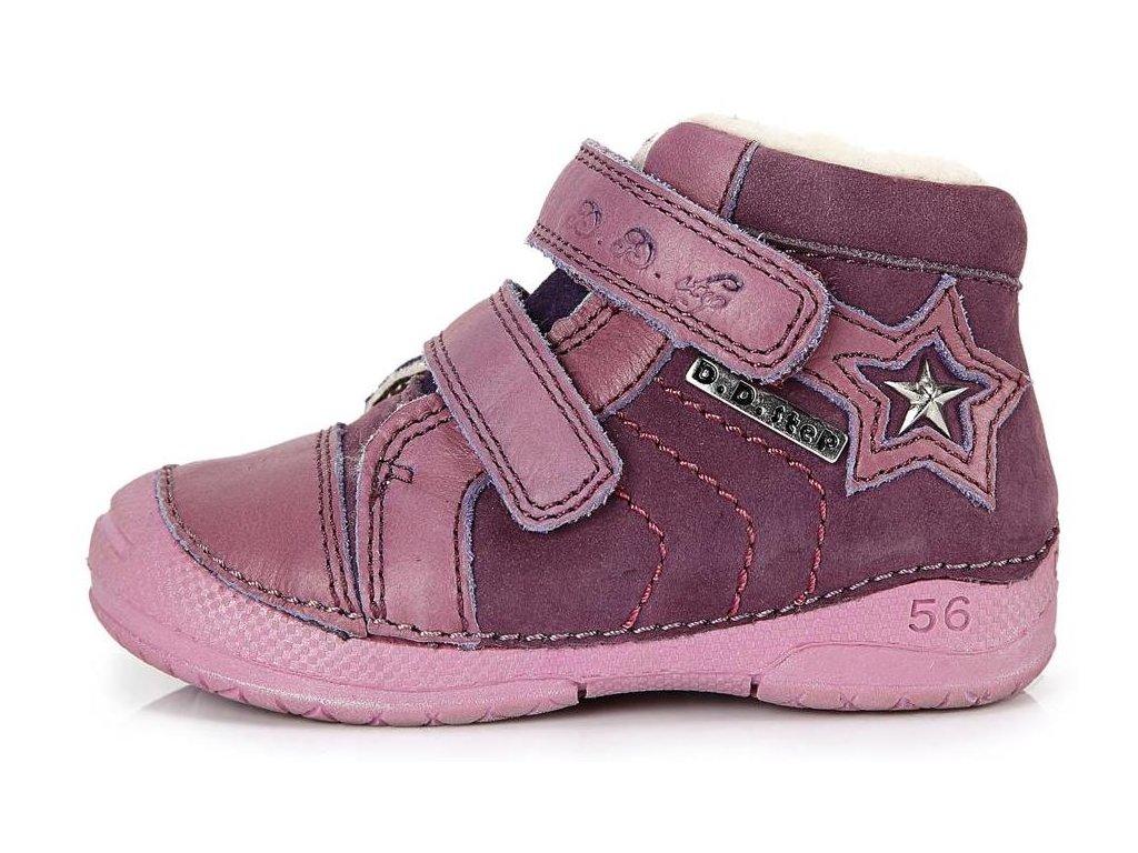 Dětské zimní kotníkové boty D.D.step 038 fialové - VLAPA.cz 735c5f3b7c