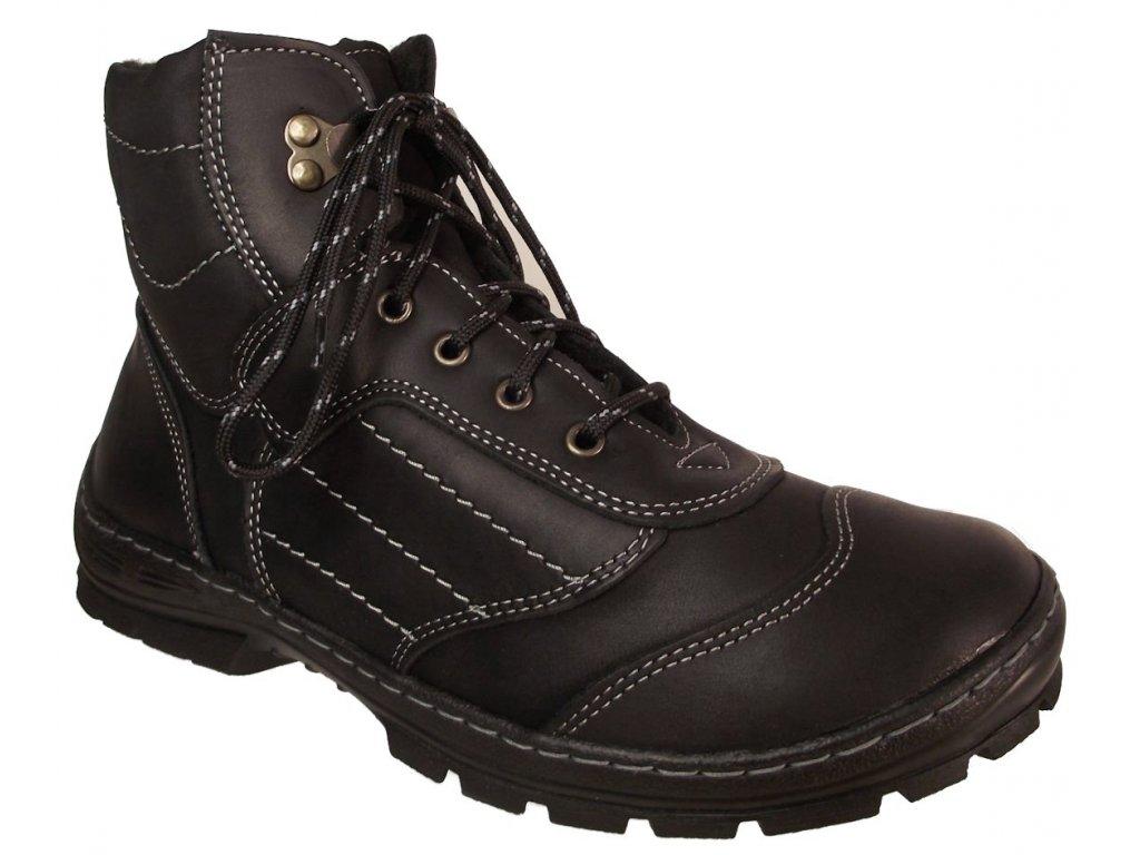 Pánská zimní obuv NES 4205 černá