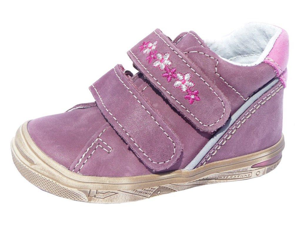 Dětské celoroční boty Jonap 015/M kytka fialová