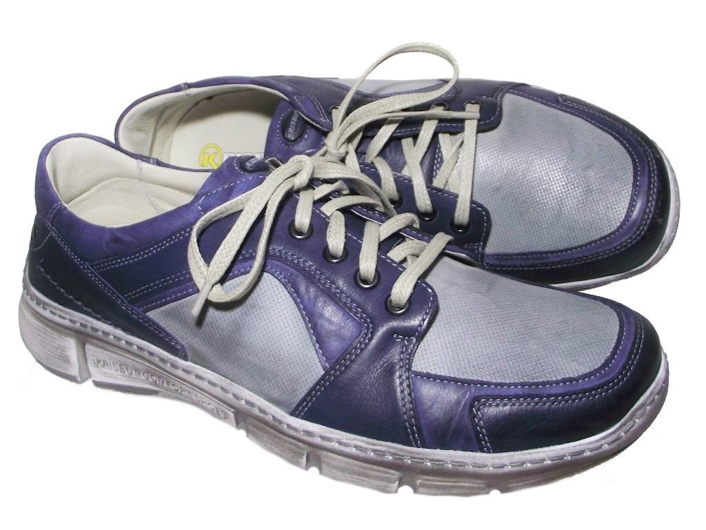 Pánská vycházková obuv Hilby Krisbut 4880 modrá