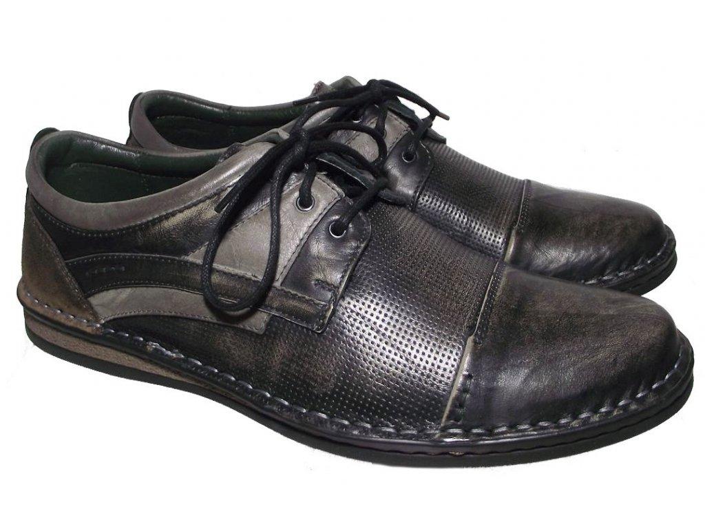 Pánská vycházková obuv Hilby Krisbut 4876 hnědá
