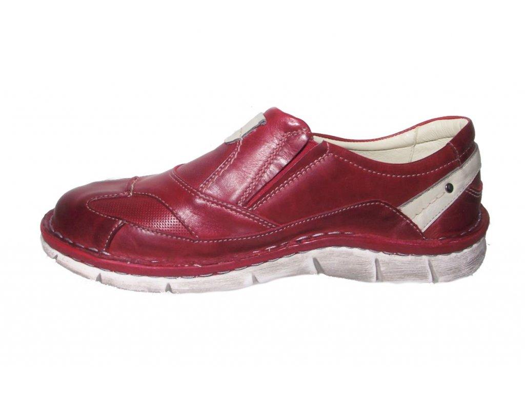 b3d94a3e32f Dámská vycházková obuv Hilby Krisbut 2189 červená · Dámská vycházková obuv  Hilby Krisbut 2189 červená ...