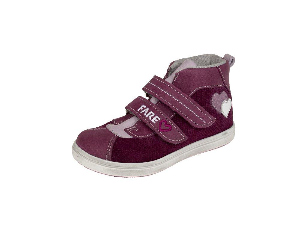 Dětské celoroční kotníkové boty Fare 819391 vínové