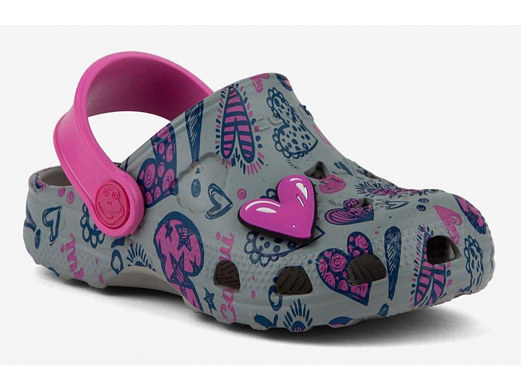 Dětské sandály Crocs Coqui Little Frog šedé