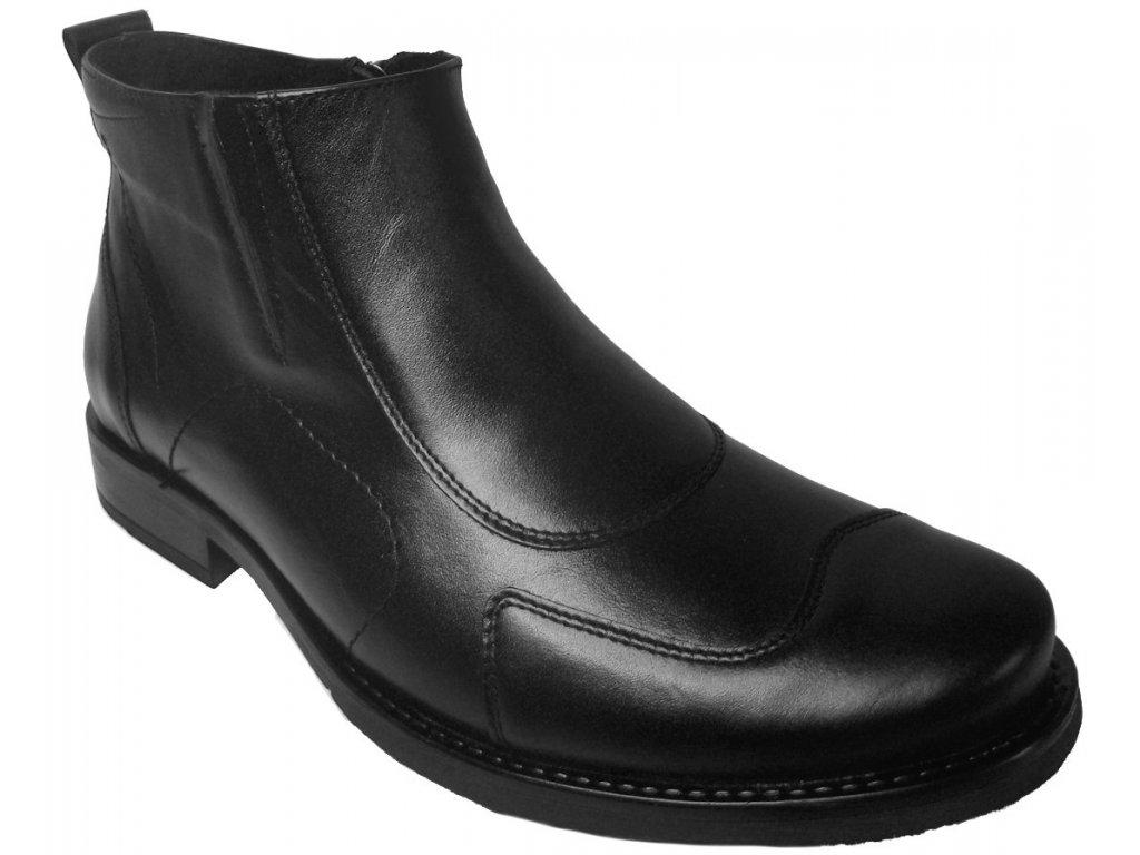 Pánské zimní kožené boty Barton 52209