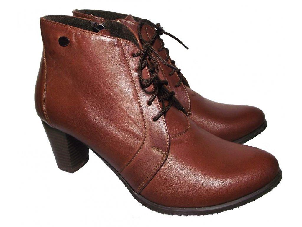 Dámská zimní obuv na podpatku Kira 1080 hnědá