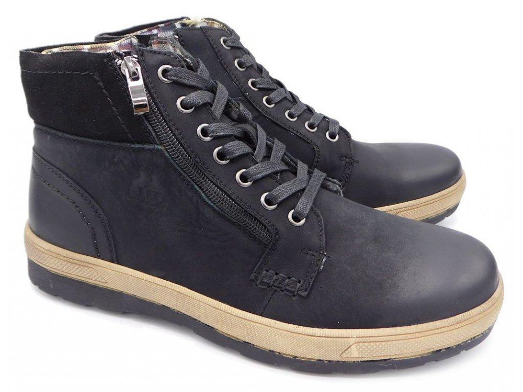 Pánská zimní obuv John Garfield 1060 černá - VLAPA.cz 23e603186a4