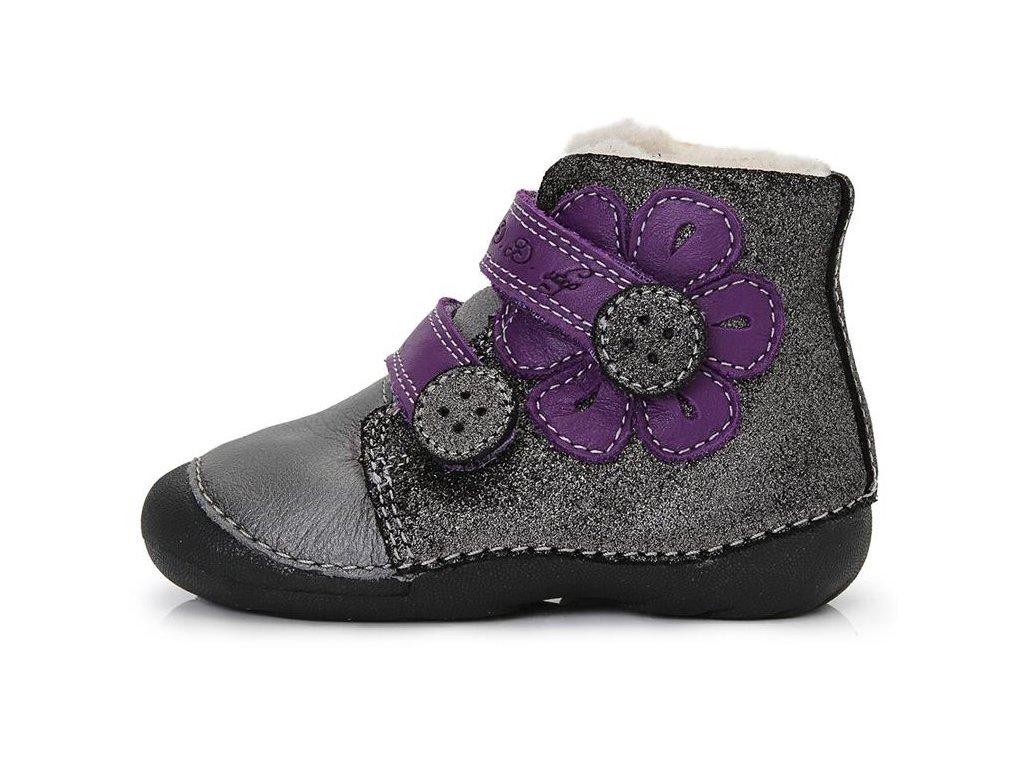 Dětské zimní kotníkové boty D.D.step 015-129A šedé - VLAPA.cz 5fc80d4f66