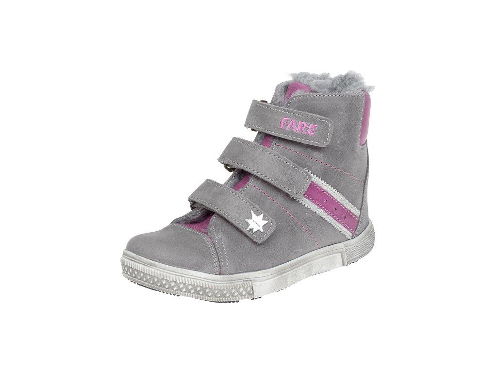 Dětské zimní kotníkové boty Fare 841151 šedé - VLAPA.cz 83139c6245