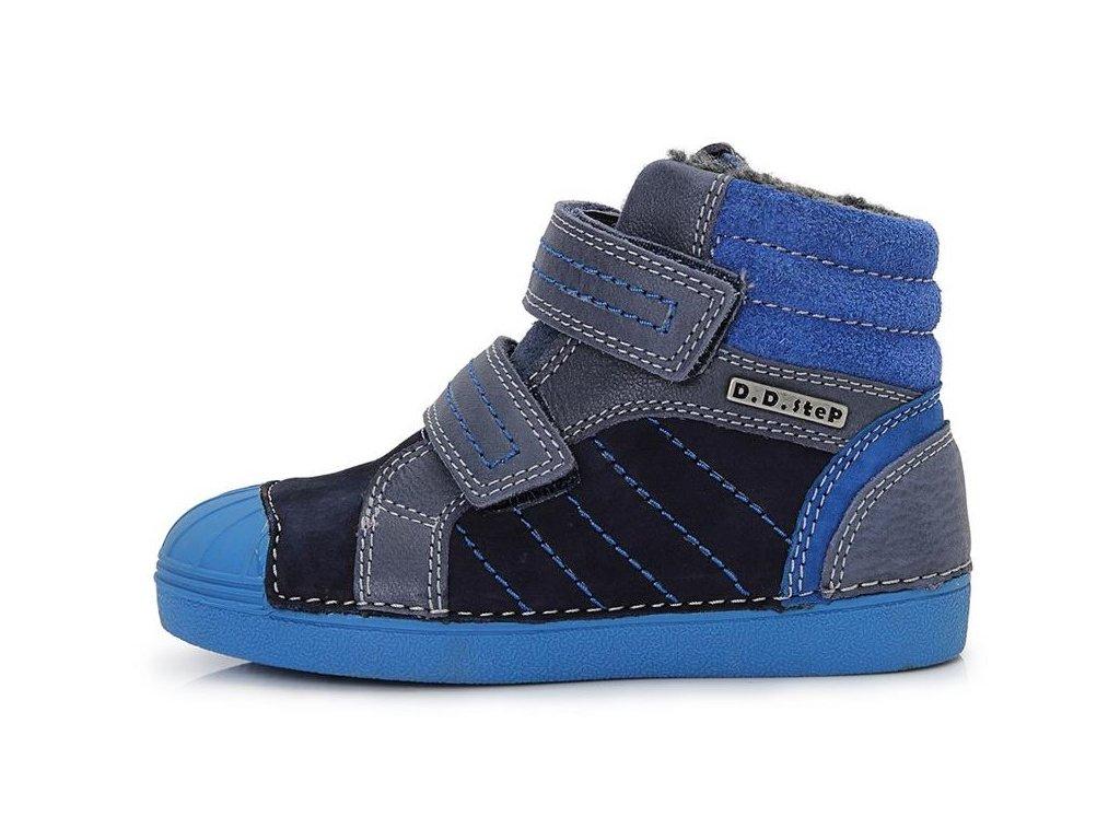 Dětské zimní kotníkové boty D.D.step 043-504 modré - VLAPA.cz 7a6be41e0e