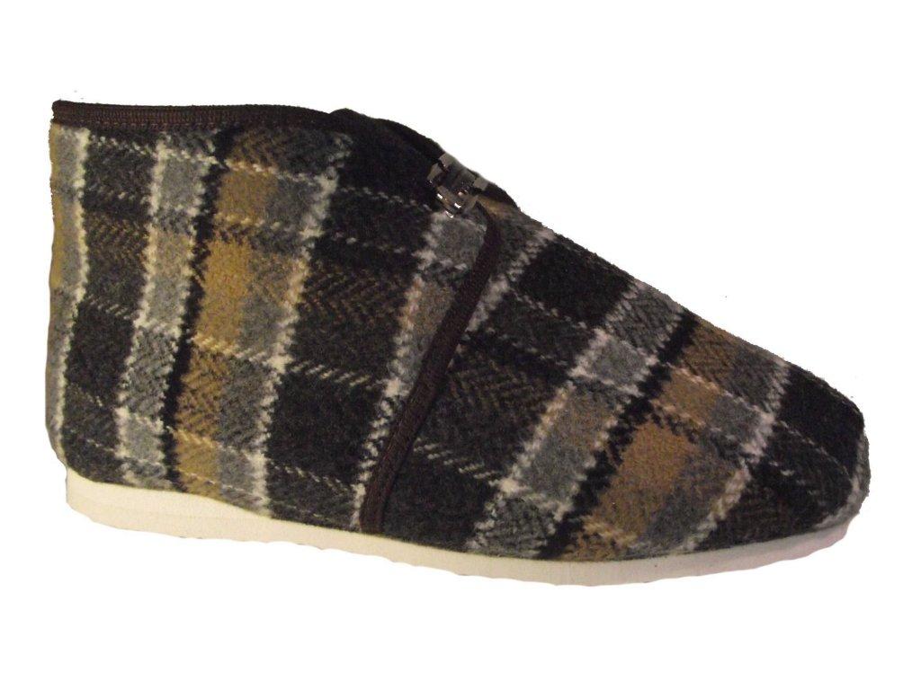 Pánské domácí papuče Bokap 073 šedá
