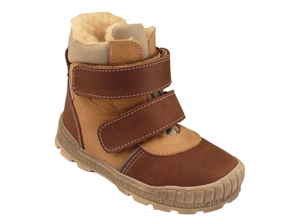 Dětské zimní kotníkové boty Pegres 17121 hnědá