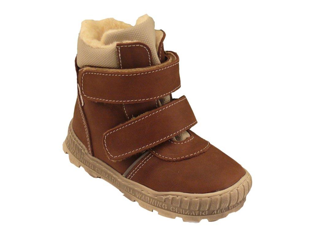 Dětské zimní kotníkové boty Pegres 17122 hnědá - VLAPA.cz 305808749d