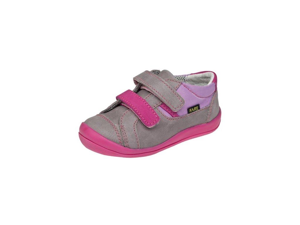 Dětské celoroční boty Fare 812152 růžovo-šedé