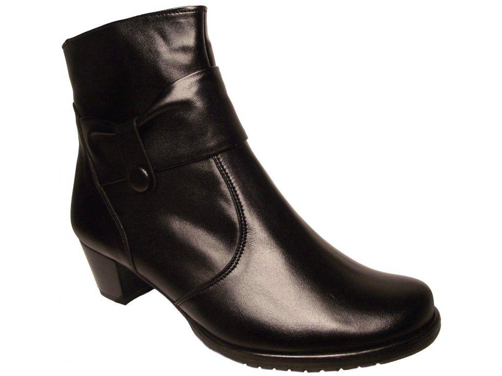 Dámské zimní kotníkové boty Hujo EW 690 černá