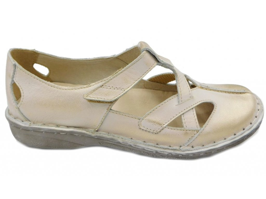 Dámská vycházková zdravotní obuv Orto Plus 1258 béžová - VLAPA.cz 6502233654