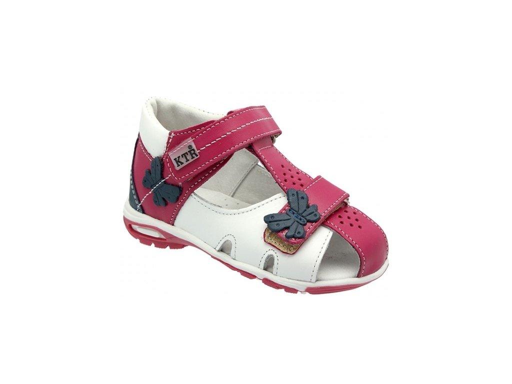 Dětské letní sandálky KTR 119/120/M růžovo-bílé