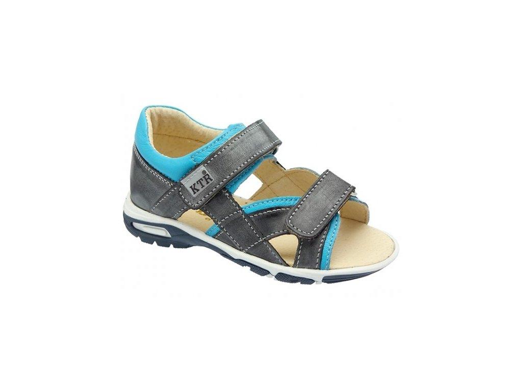 Dětské letní sandálky KTR 119/137/BI šedé