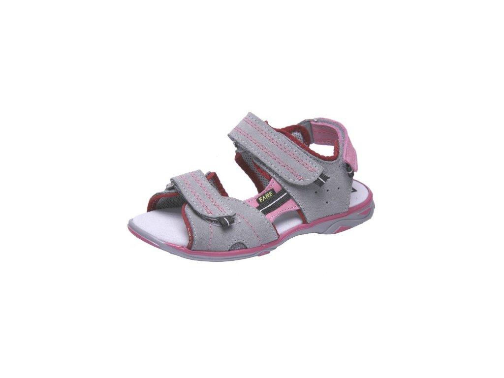 Dětské letní sandálky Fare 1761362 šedé