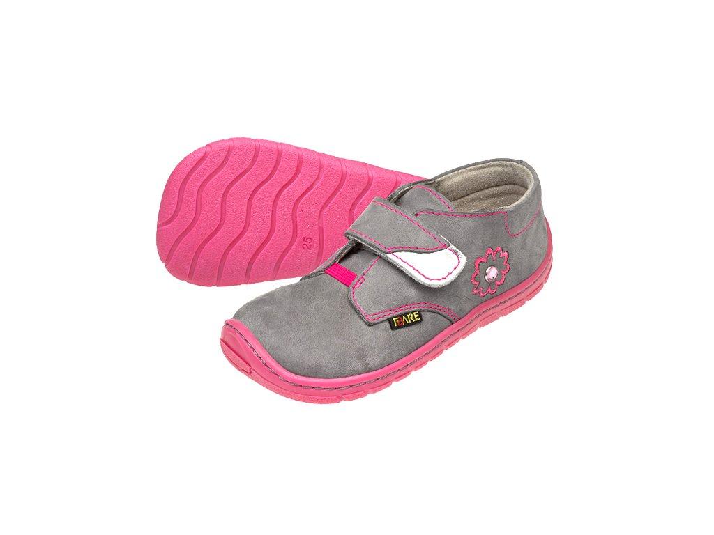 57dff54ae88cb Dětské celoroční boty Fare Bare 5112261 růžovo-šedé - VLAPA.cz
