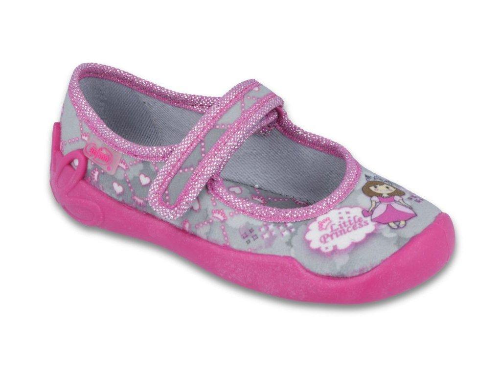 Dětské textilní bačkůrky Befado 114x305 šedé - VLAPA.cz 0076bce10e