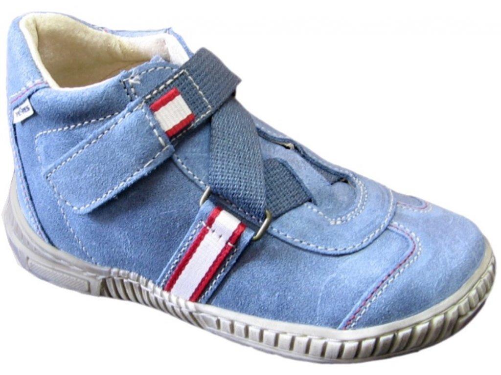 Dětské celoroční boty Pegres 1403 modrá - VLAPA.cz d66568fc97