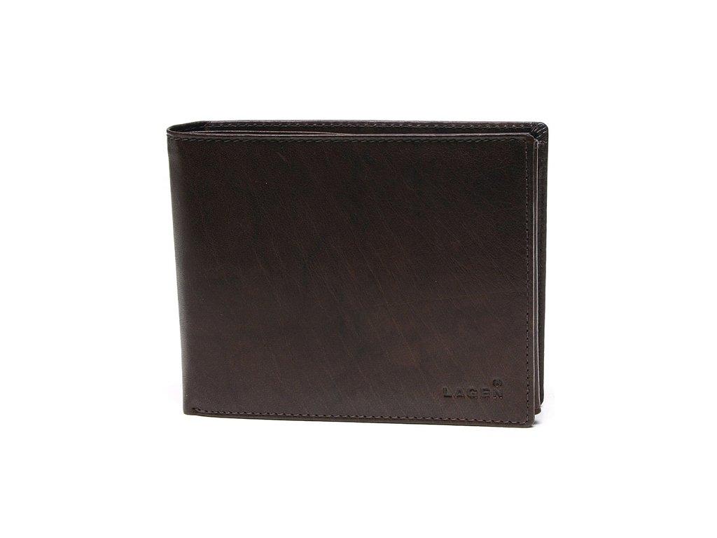 Pánská kožená peněženka Lagen V-76 hnědá