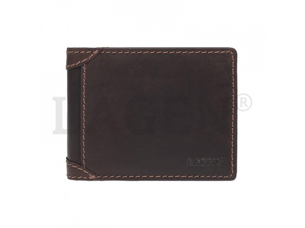 Pánská kožená peněženka Lagen 511461 hnědá