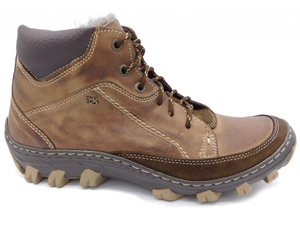 a5e25be91f ... Pánská zimní kožená obuv Madler 0264 hnědá. DSCI2809