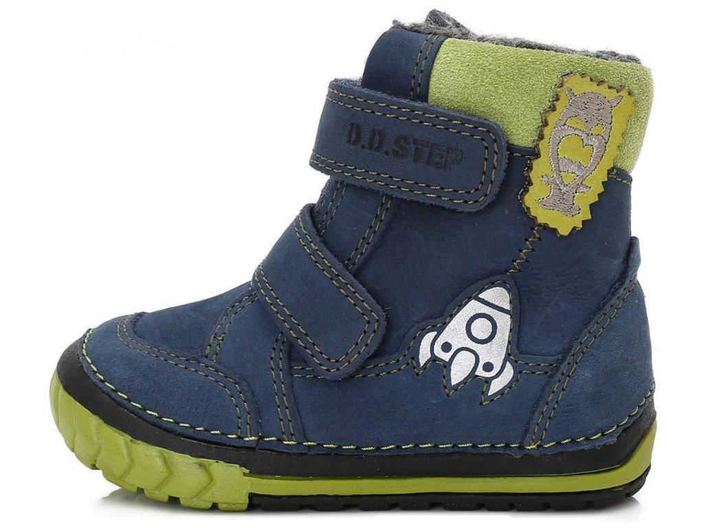 7561ba16a25 Dětské zimní kotníkové boty D.D.step 029-303B modré - VLAPA.cz