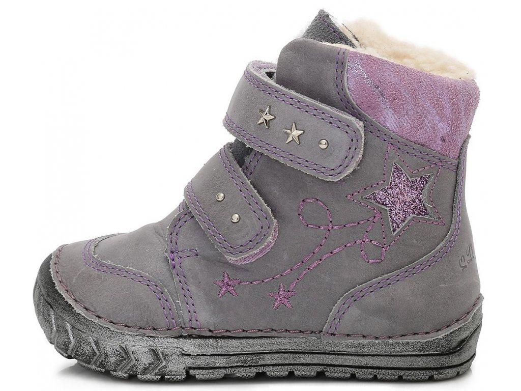 d1ca7edc4c5 Dětské zimní kotníkové boty D.D.step 029-302B šedé - VLAPA.cz