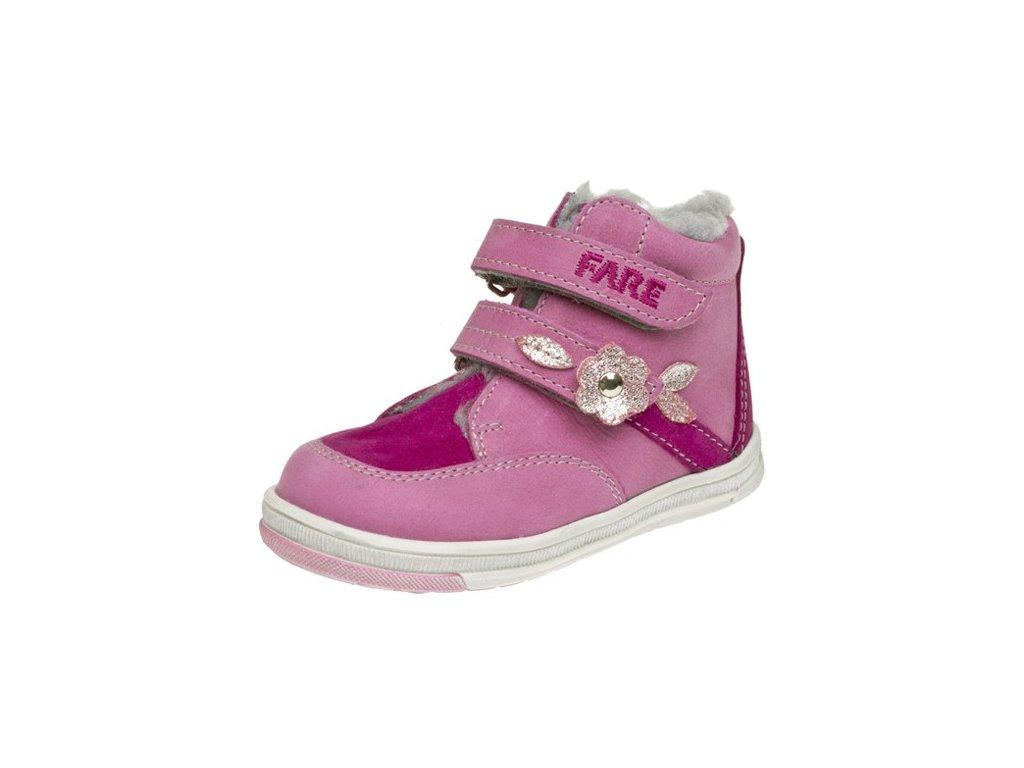 Dětské zimní kotníkové boty Fare 2147152 růžové