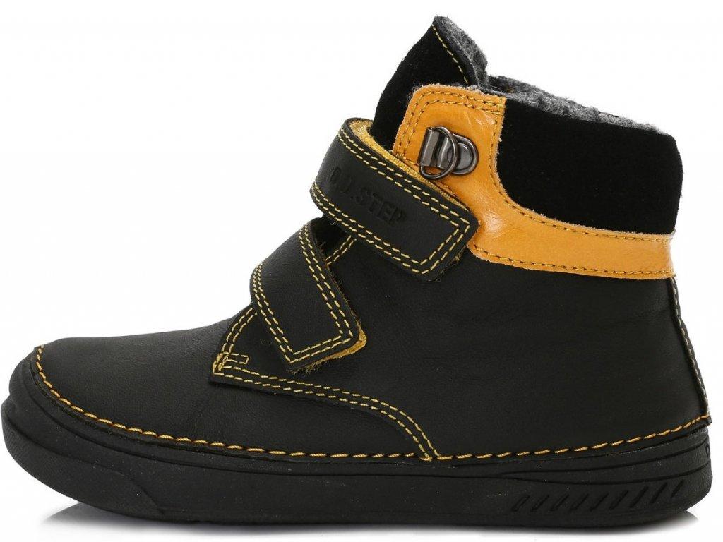 Dětské zimní kotníkové boty D.D.step 040-423 černé