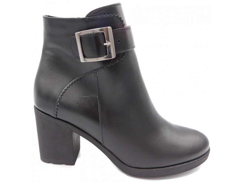 Dámské zimní boty na podpatku Barton 18201 černé