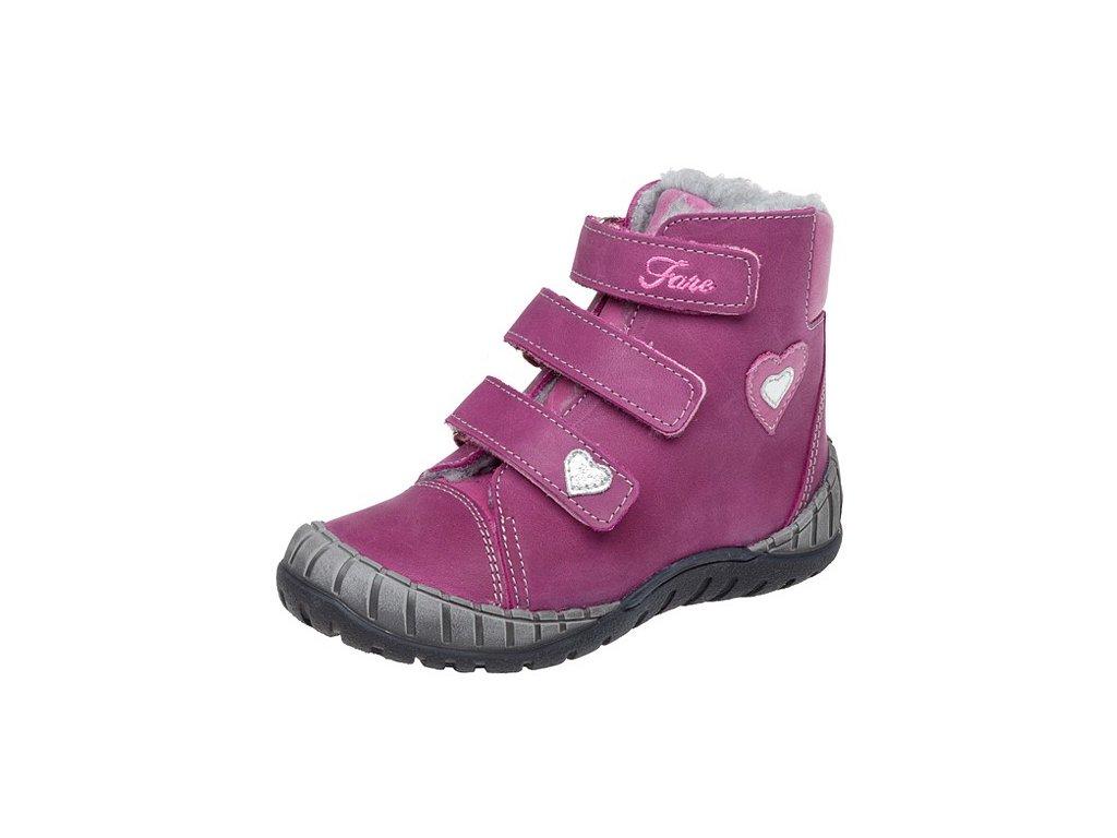 Dětské zimní kotníkové boty Fare 841191 vínové