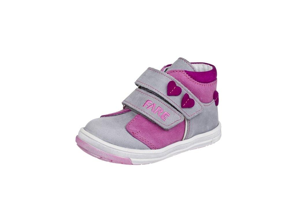 Dětské celoroční kotníkové boty Fare 2127153 růžové