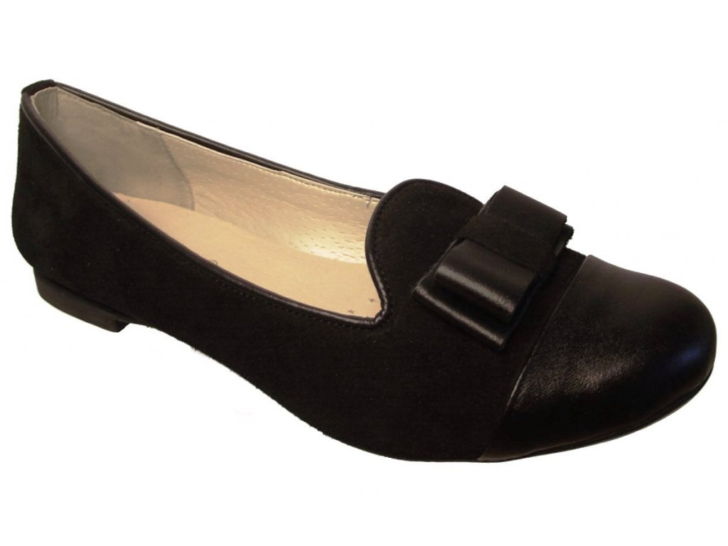 Dámské kožené baleríny Hujo EW 373 černé