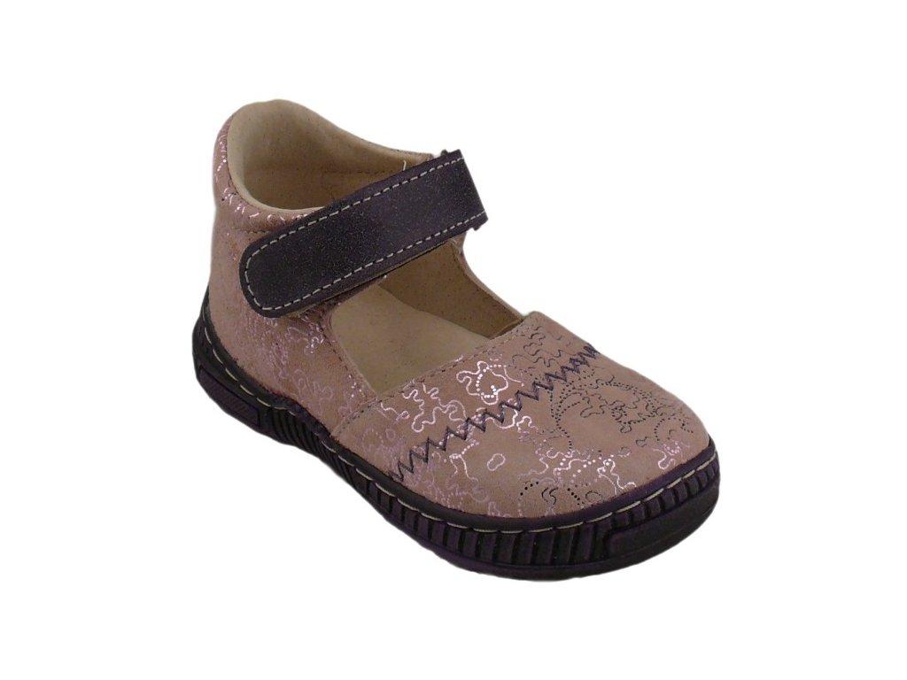 Dětské celoroční boty Pegres 1102 fialová