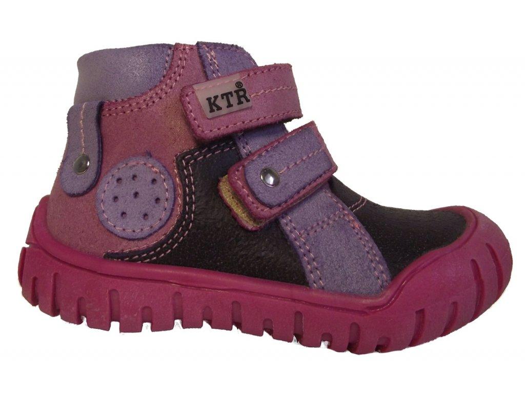 d881f25fd7b Dětské celoroční boty KTR 162 růžová · Dětské celoroční boty KTR 162 růžová  ...
