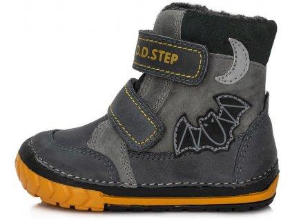 Dětské zimní kotníkové boty D.D.step 029-308 šedé