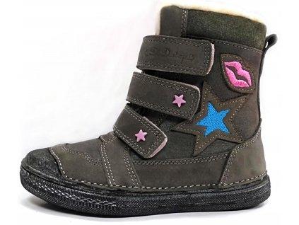 Dívčí zimní obuv D.D.step 049-913 šedá