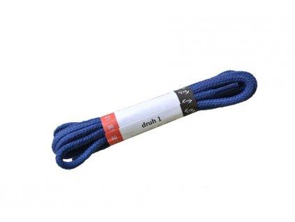 Kulaté bavlněné tkaničky do bot 1 modrá