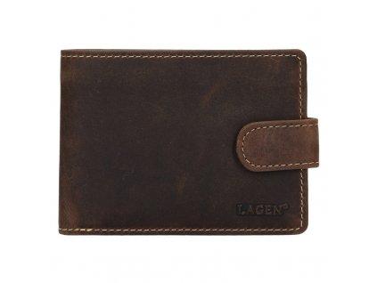 Pánská kožená peněženka Lagen 1992 hnědá