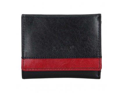 Dámská kožená peněženka Lagen BLC 160231 černočervená